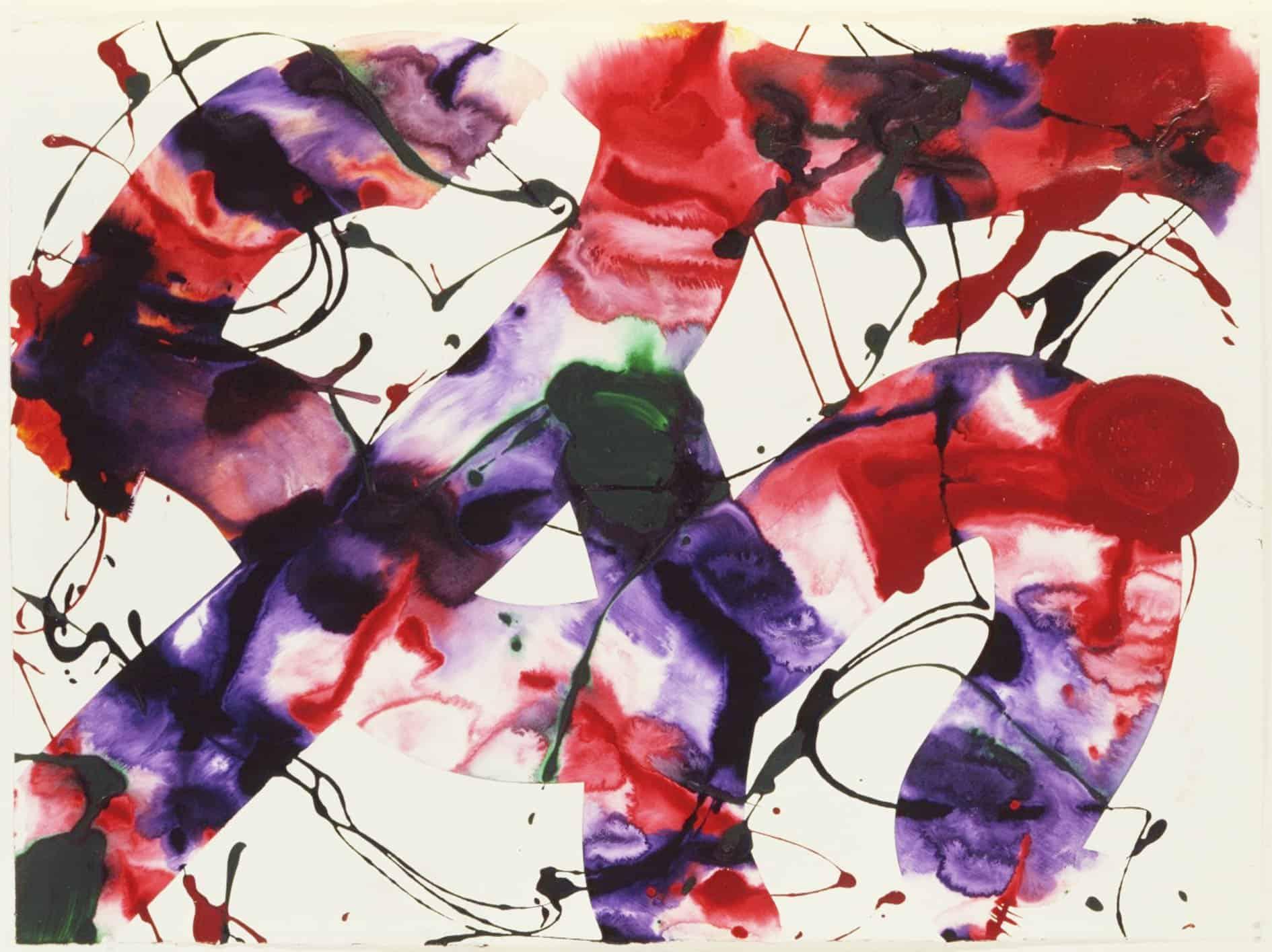 Galerie Jean Fournier - Sam Francis, Sans titre, 1988, acrylique sur papier, acrylic on paper, 55,5 x 76 cm, 60.000 €, Galerie Jean Fournier, Droits réservés