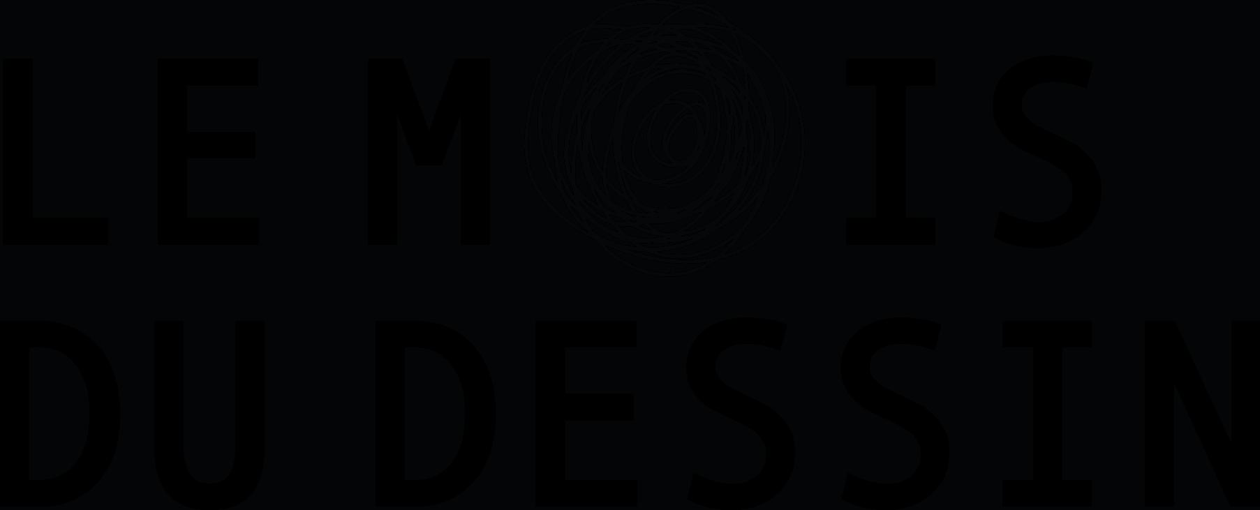 Logo MOIS DU DESSIN 2020 n&b